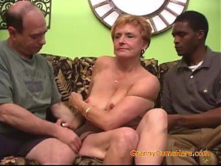 Interracial Gangbang with a Horny Granny Part 3