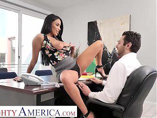Naughty America - Anissa Kate fucks the car salesman to get a better deal!!!!