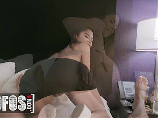 Mofos - Horny Goddess Maid Maya Bijou Sneaks In A Couples Room And Gets Her Pussy Stretched By JMac
