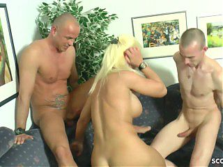 Real German Mature Couple at Threesome with Young Boy and Wife Changing